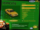 Midtown Madness Windows Car selection menu