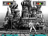 HKM ZX Spectrum Kwon can kick while in the air, doesn't do him much good though with this player at the controls