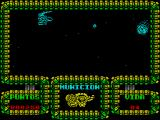 Meganova ZX Spectrum When the space ships have been destroyed asteroids come across the screen diagonally