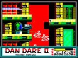 Dan Dare II: Mekon's Revenge ZX Spectrum When Dan gets off the edge of the top corridor he falls slowly. The player must work to get him back up again