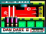 Dan Dare II: Mekon's Revenge ZX Spectrum ... he may end up trapped in a room full of laser fire. Should have found a way to turn them off.