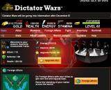 Dictator Wars Browser Welcome screen, top half