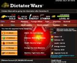 Dictator Wars Browser Stats screen, top half
