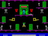 Moonlight Madness ZX Spectrum The game starts here. The player has three lives.