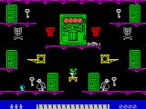 Moonlight Madness ZX Spectrum The player quickly learns that jumping to the floor costs a life. Jumping to another platform costs a life too