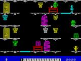 Moonlight Madness ZX Spectrum The player has collected the first key - one of the icons along the bottom of the screen has turned black.