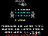The A-Team ZX Spectrum This is the game's main menu. There is no option to redefine the action keys