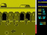 The A-Team ZX Spectrum That box on the ground is an ammo clip, fire at them to collect. The health bar at the side of the screen is going down fast, about to lose another member of the team