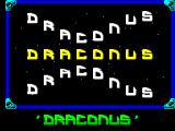 Draconus ZX Spectrum The load screen is followed by the game's title screen in which the white letters float about in a wave pattern. When all lives have been lost the player is returned here