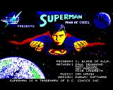 Superman: The Man of Steel BBC Micro Title Screen