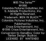 Men in Black: The Series Game Boy Color Legal crap.