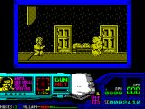 Techno Cop ZX Spectrum So bad guys appear and get shot, disappearing in a nice tidy puff of smoke