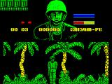 GI Hero ZX Spectrum The start of the game. GI looks big and well drawn doesn't he? The game initially reminded me of playing with toy soldiers when I was young