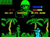 GI Hero ZX Spectrum GI's health - the top blue bar, decreases when he is shot.