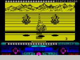 Space Racer ZX Spectrum The game starts with the player driving up to the start line. A 3 - 2 - 1 - countdown starts the race