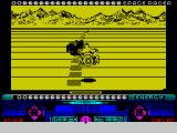 Space Racer ZX Spectrum Just hit a mine of some kind. No damage though just a sooty cloud