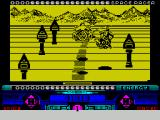 Space Racer ZX Spectrum If left alone for long enough the game goes into a demo mode which shows lots of riders happily competing together - not a shot being fired
