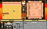 The Red Crystal: The Seven Secrets of Life DOS Beginning of the game. Your hero is represented by a sword.