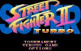 Super Street Fighter II Turbo Amiga CD32 Main menu.