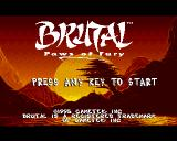 Brutal: Paws of Fury Amiga CD32 Title screen.