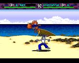Brutal: Paws of Fury Amiga CD32 Fighting on the beach.