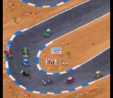 Super Skidmarks Amiga CD32 F1 cars versus Minis - that doesn't seem like a fair race!
