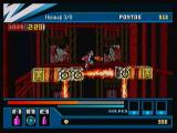 Action Hero 3D: Wild Dog Zeebo A vertical scrolling level. Here we have fire obstacles, just like the lightning ones seen before.