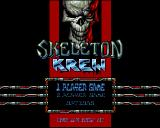 Skeleton Krew Amiga CD32 Main menu.