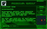 Syndicate Amiga CD32 The first mission briefing.