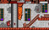 Castlevania Amiga A puma sits on top of a staircase