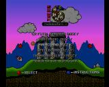 The Big 6 Amiga CD32 Compilation menu: Magicland Dizzy.