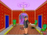 Rosemary West's House of Fortunes DOS Rosemary welcomes you and proposes to register in the book.