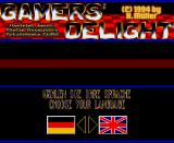 Gamers' Delight Amiga CD32 Language selection screen.