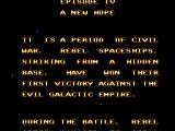 "Star Wars SEGA Master System Was it so hard to make the text scroll ""into"" the screen as in the films?"