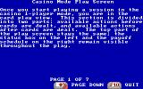 Dr. Wong's Jacks+ Video Poker DOS Page of Help (EGA/VGA and Tandy)