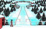 Winter Challenge: World Class Competition DOS Walking to position of Ski Jump