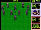 Gain Ground SEGA Master System Lots of enemies behind stones haul a rain at spears at you.