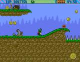 Superfrog Amiga CD32 Quick, I have to escape from the deadly ... snail.