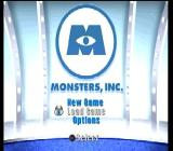 Disney•Pixar's Monsters, Inc.: Scare Island PlayStation Main menu.