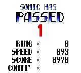 Sonic the Hedgehog Chaos Game Gear Stage completed