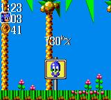 Sonic the Hedgehog Chaos Game Gear The game displays the speed with which you pass the end-of-stage sign.