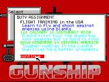 Gunship ZX Spectrum Duty assignment