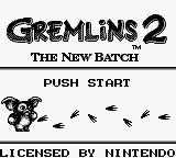 Gremlins 2: The New Batch Game Boy Title Screen