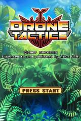 Drone Tactics Nintendo DS Title screen.