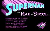 Superman: The Man of Steel DOS Title Screen