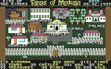 Rings of Medusa Commodore 64 Overview of non-hostile city