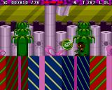 Zool 2 Amiga CD32 I need to collect 99% of the items in the level to proceed to the next level at this green token.