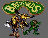 Battletoads Amiga CD32 Title screen.