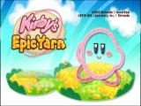 Kirby's Epic Yarn Wii Title Screen
