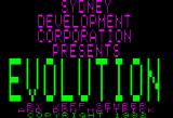 Evolution Apple II Title screen